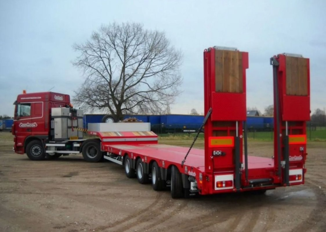 Перевозка негабаритных грузов низкорамными полуприцепами по РФ - Калуга, заказать или взять в аренду