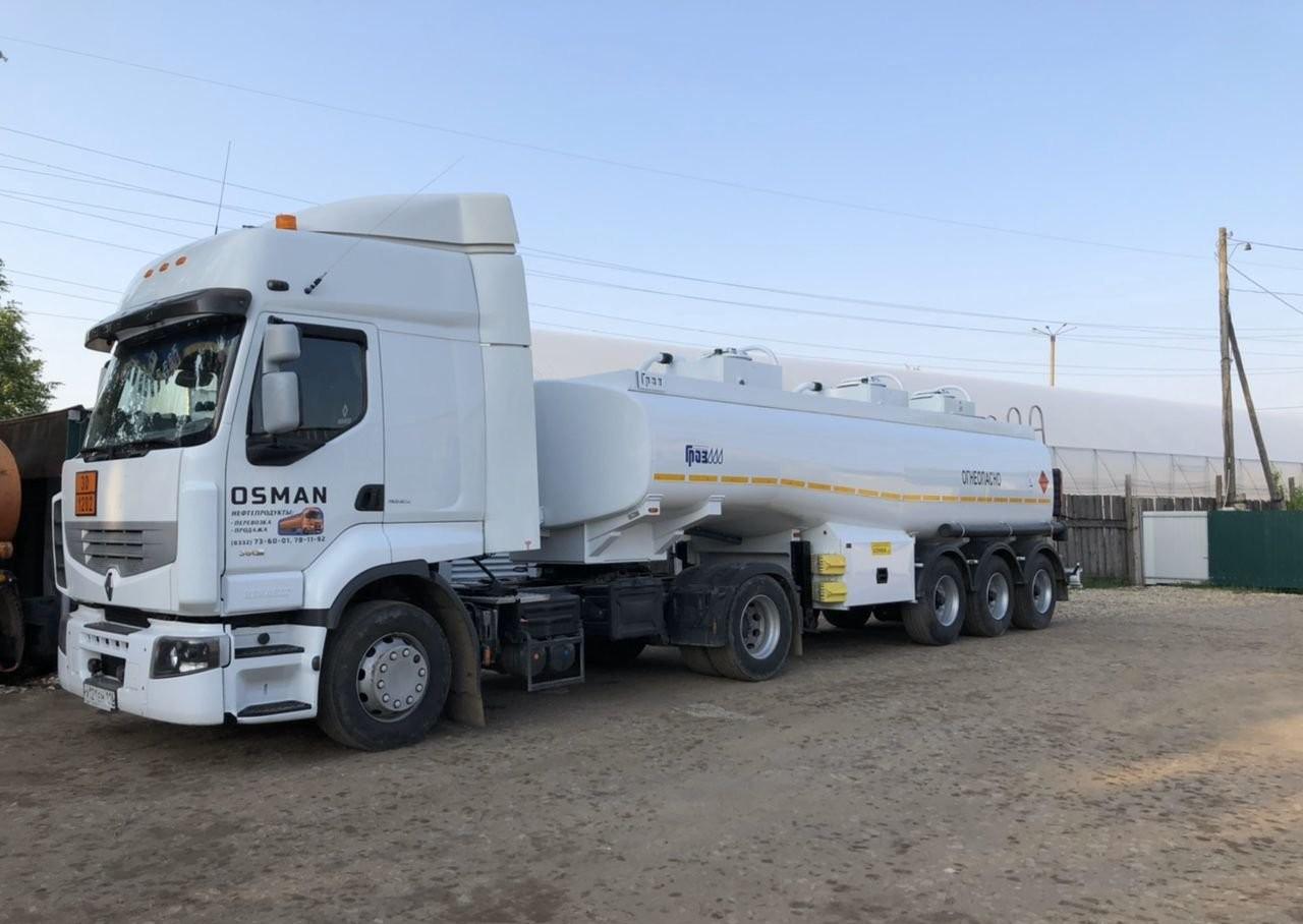 Доставка топлива цистерной бензовозом, топливозаправщиков - Киров